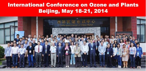 Photo showing Participants of the International Conference on Ozone and Plants; Beijing, China; 2014.